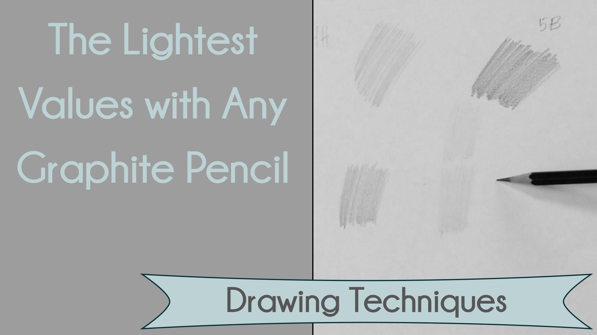 How to draw the lightest values with any graphite pencil png lzm